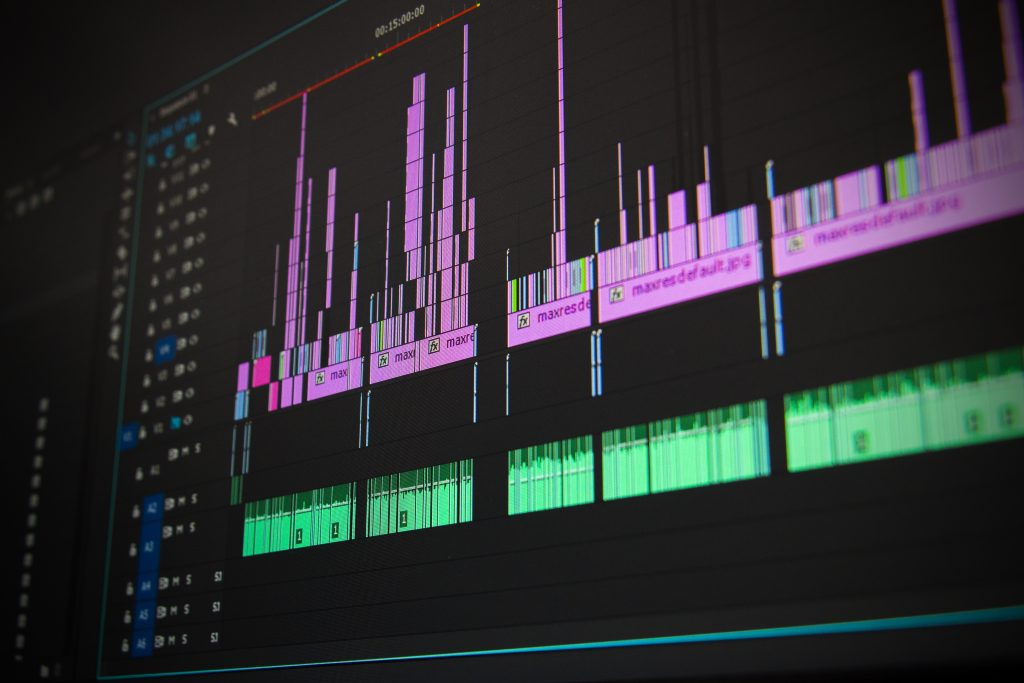 Video Editing timeline on Adobe Premiere Pro. A post-production service in Brampton offered by DF Media Productions.