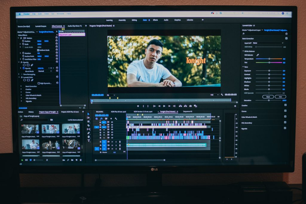 Post Production step in the video production process to help with improving client experience
